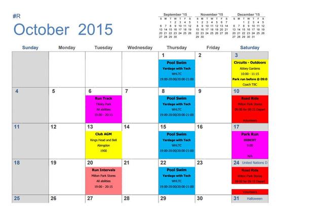 sample training calendar format - Josemulinohouse