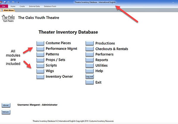 Theatre Inventory Database