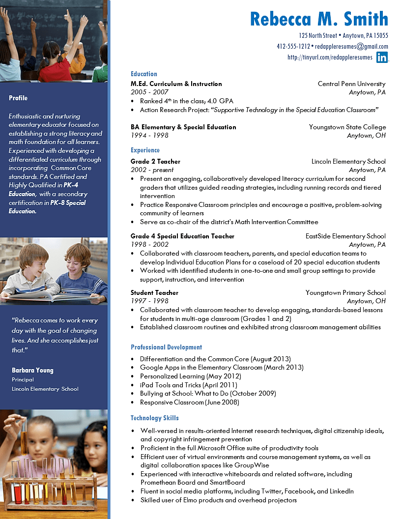 Best resume writing services for teachers 50