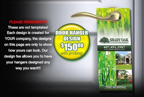 Lawn Care and Landscaping Door Hangers