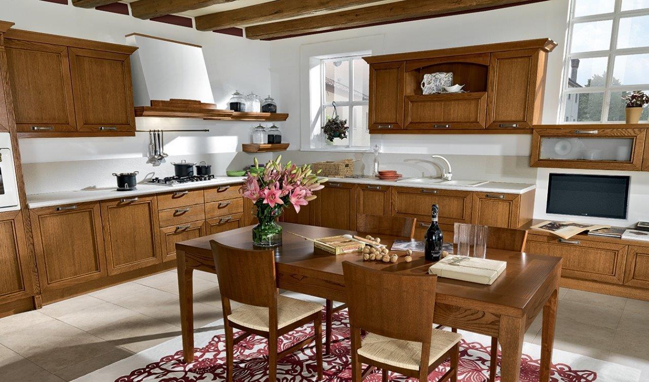 Cucina Ad Angolo Classica   Cucina Ad Angolo Con Isola