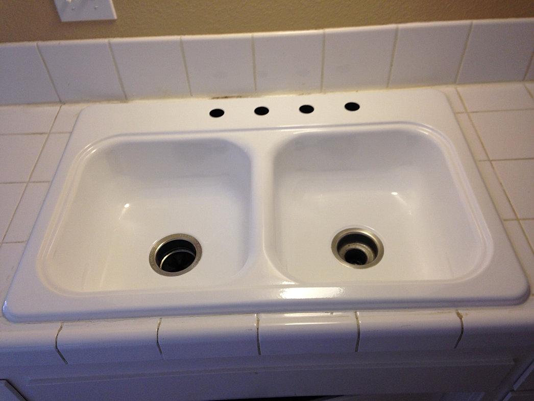 sink reglazing refinish kitchen sink Kitchen Sink Refinish After