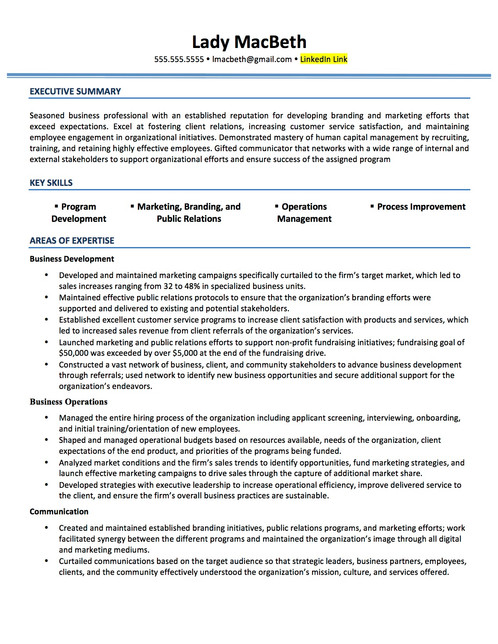 Mid-Career Resume and Cover Letter - mid career resume
