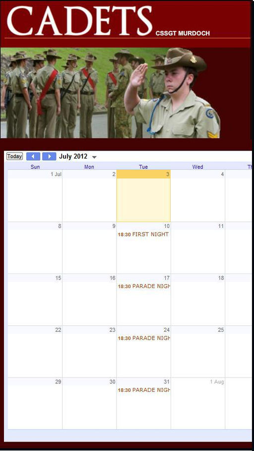 Create A Calendar Of Events Free Create Calendar For Any Year Time And Date 15th Australian Army Cadets News Wix