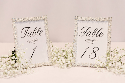 Sparkling Silver Framed Table Numbers Detailed Memories Northern