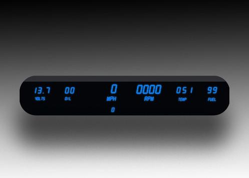 6 Gauge LED Digital Dash Panel Kit