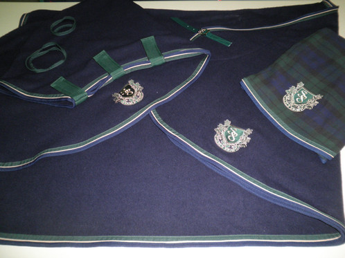 Stable 8 Wool Rug Navy Stable 8 Horse Rugs Tuggerah Show