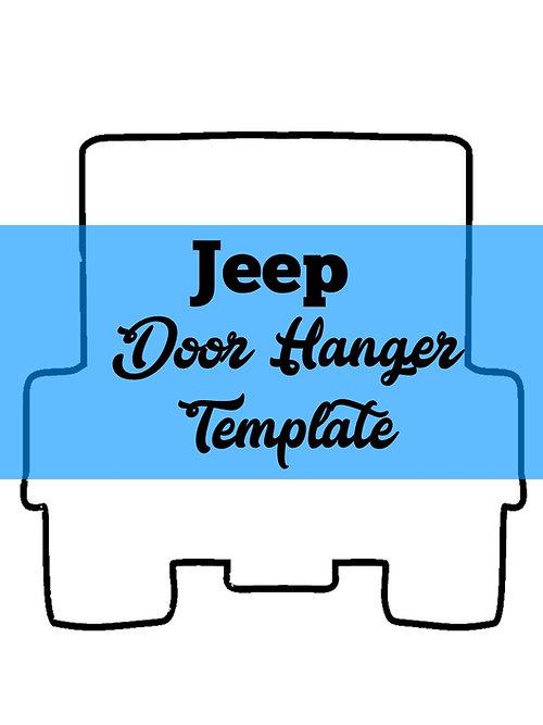 southernadoornments JEEP Door Hanger TEMPLATE - door hanger template