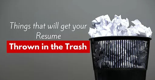 Top 5 Reasons Employers Throw Resumes In The Trash Ranked #1 - avoid trashed cover letters