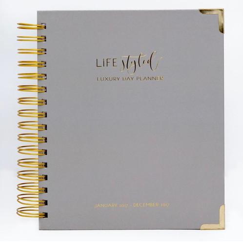 Daily Life Styled Planner 2018 - Elegant Grey