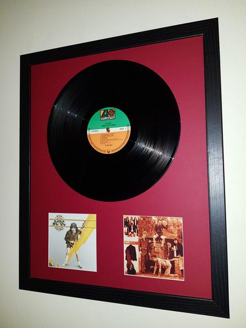 AC/DC High Voltage vinyl album presentation display