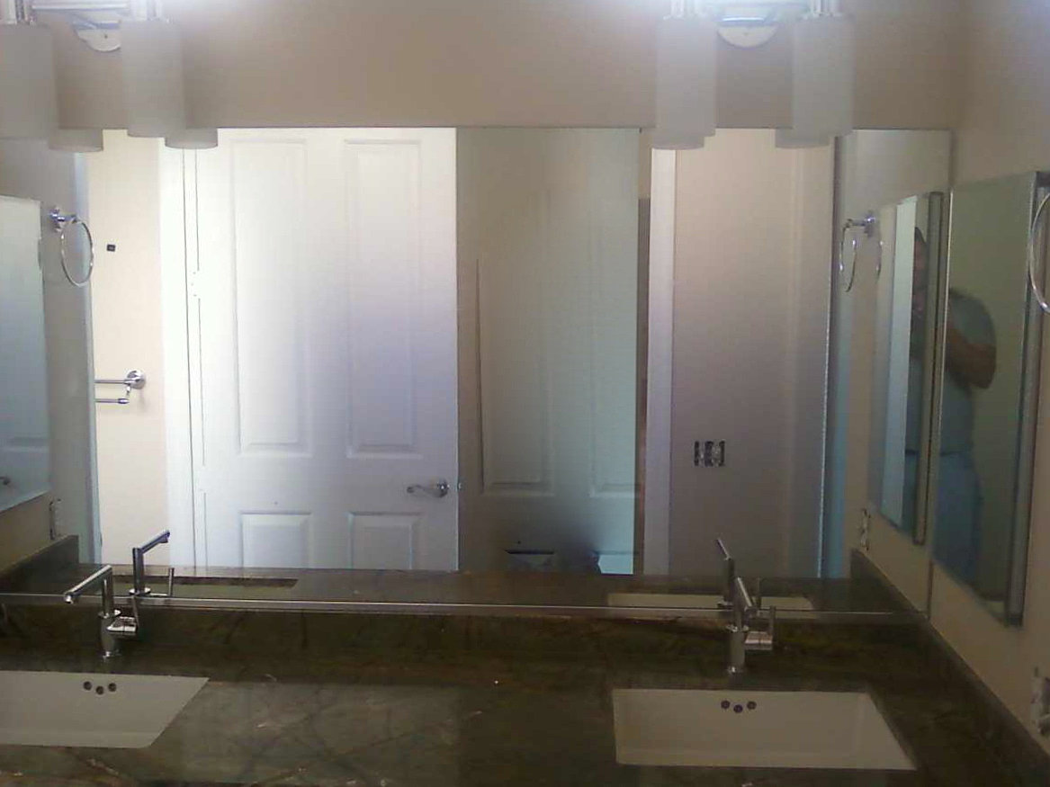 Bathroom Mirror Replacement Window Glass Replacemen Patio Door Storefront Repair Las