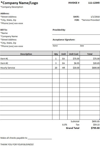 Submittal Form Template Download Free Excel