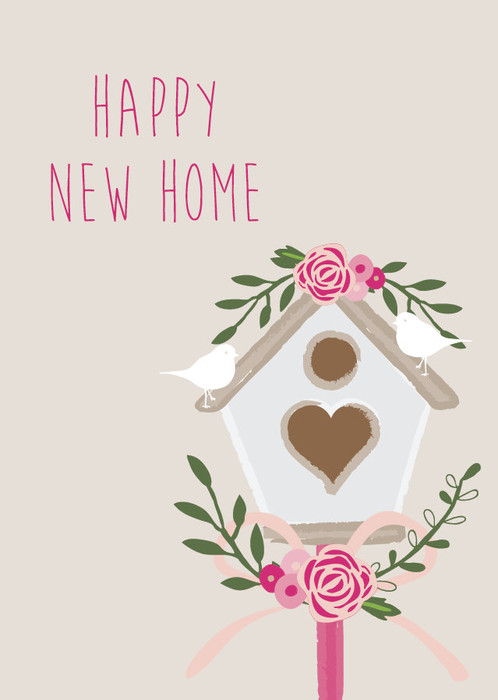 Happy new home card, congratulations on your new home, moving card
