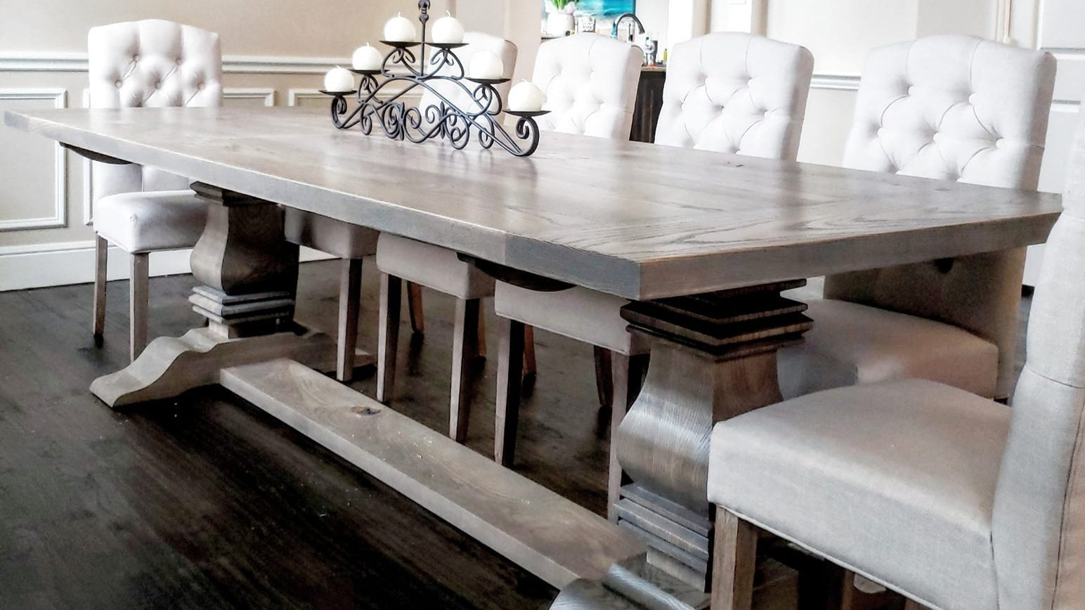 Dining Room Furniture Rustic Trestle Dining Table