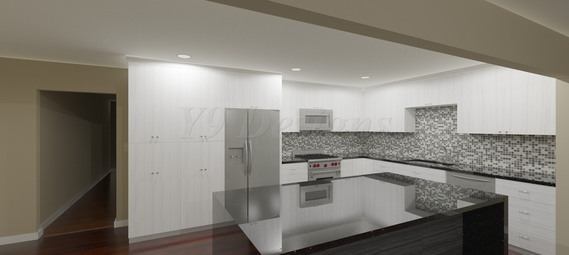 Commercial Kitchen 3d Design Y9 Construction Inc 3d Design