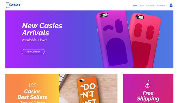Online Store Website Templates Wix - 5