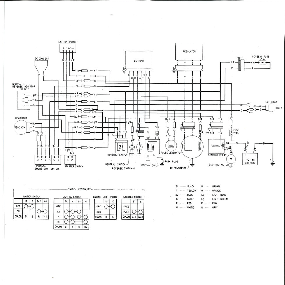 1983 honda 200e wiring diagram