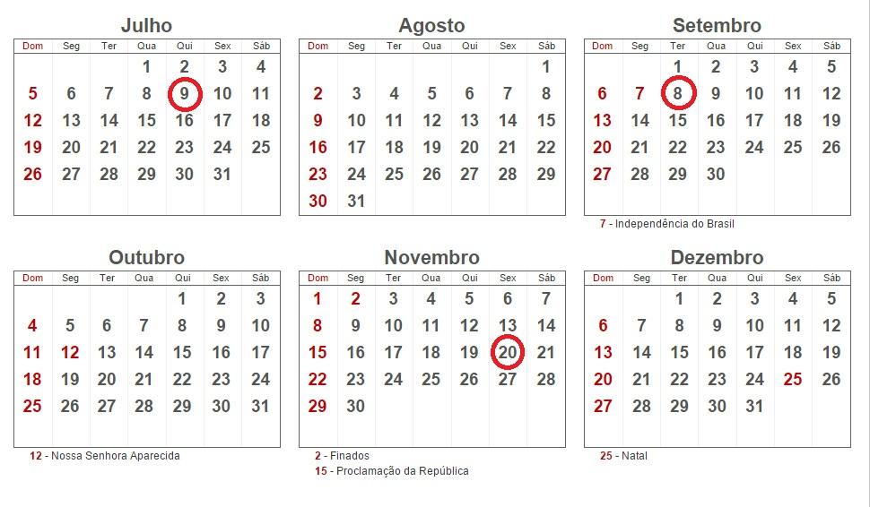 Calendar FERIADOS 2015