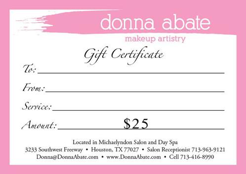 Donna Abate Digital Gift Card $35 donnaabate