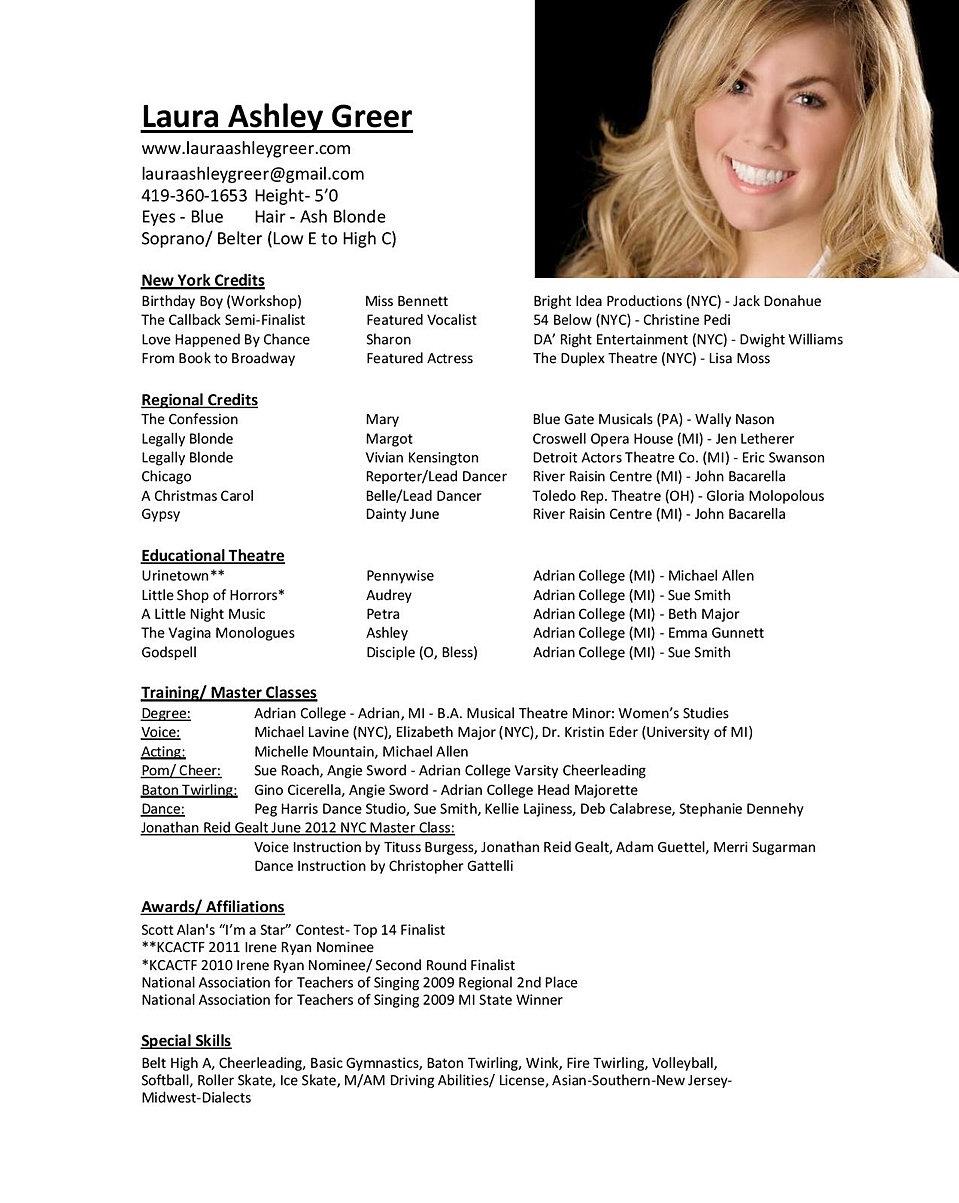 singer resume sample - Singer Resume Sample