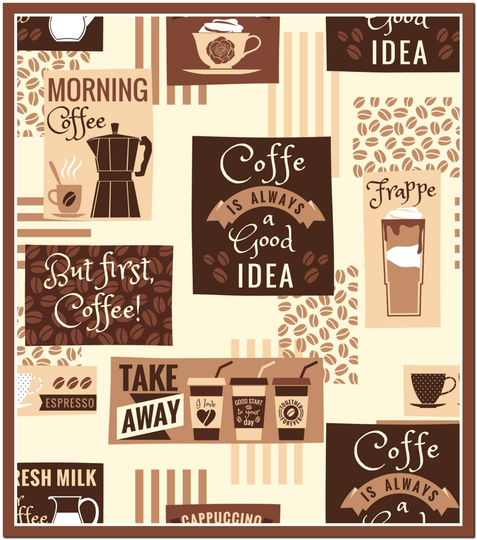Magnet Kitchen Design App Fridge Magnet Coffee Design