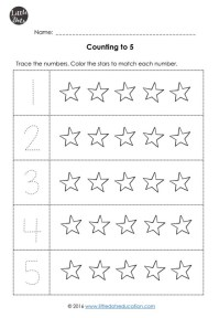 Pre-K Numbers 1 to 10 Worksheets | Little Dots Education ...