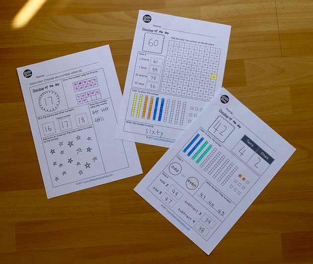 Free Number of the Day Printable and Worksheet for K-2 Little Dots