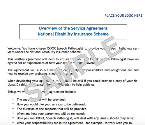 NDIS Service Agreement Template