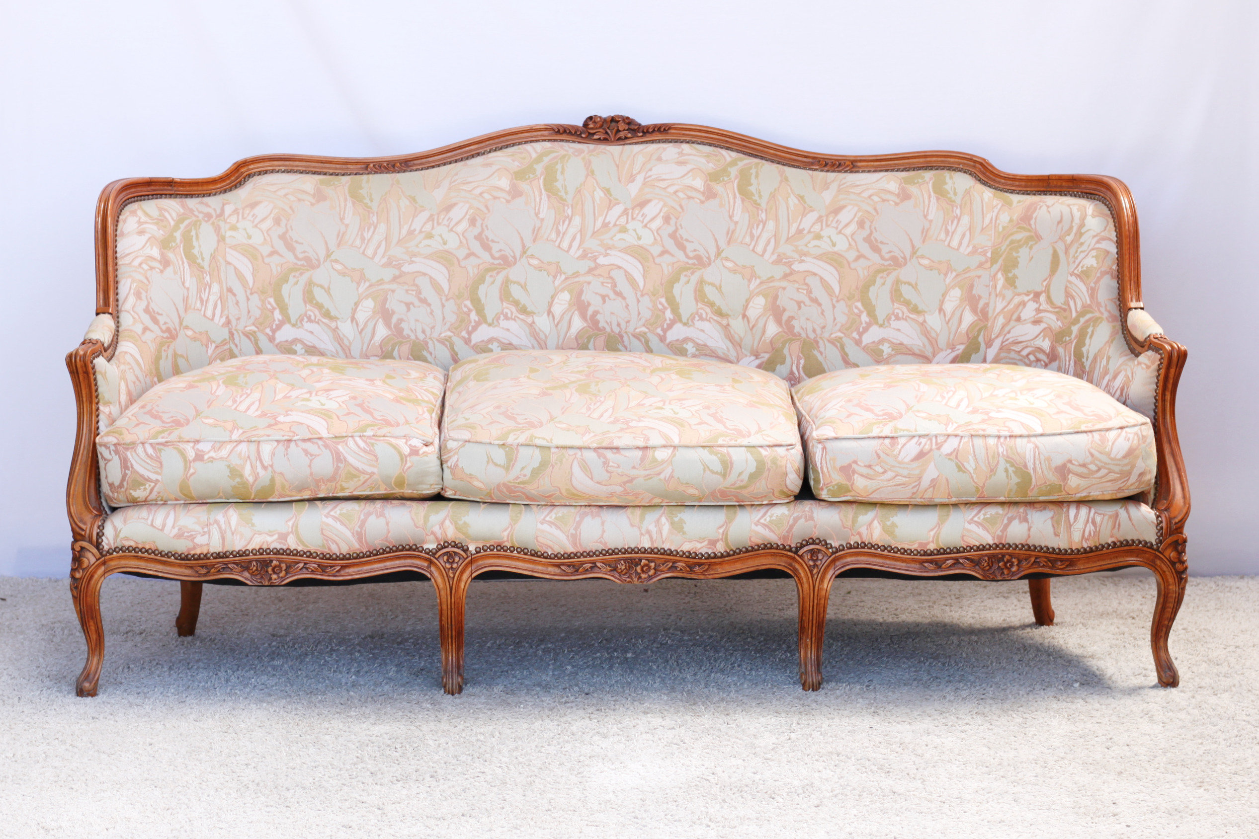 Louis Xiv Style Cherrywood Canape Sofa All Things French