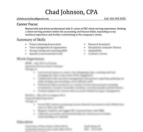 Classic Resume Template A Little Less Clueless College, Career