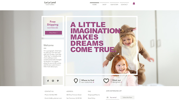 Kids  Babies Website Templates Online Store Wix