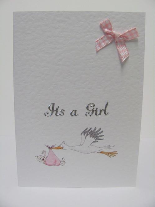 X 6 Birth Congratulations Card Baby Girl/Boy Good Luck Keepsake Gift - baby girl congratulations card