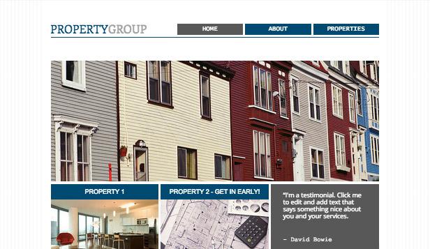 Real Estate Website Templates Business Wix - property management websites templates