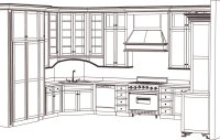 kitchen cabinet blueprint drawings