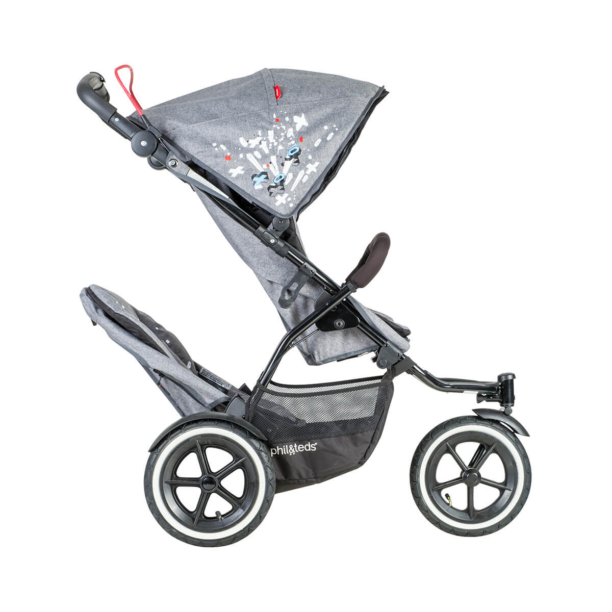Mountain Buggy Double Kit Phil And Teds Sport V5 Pushchair