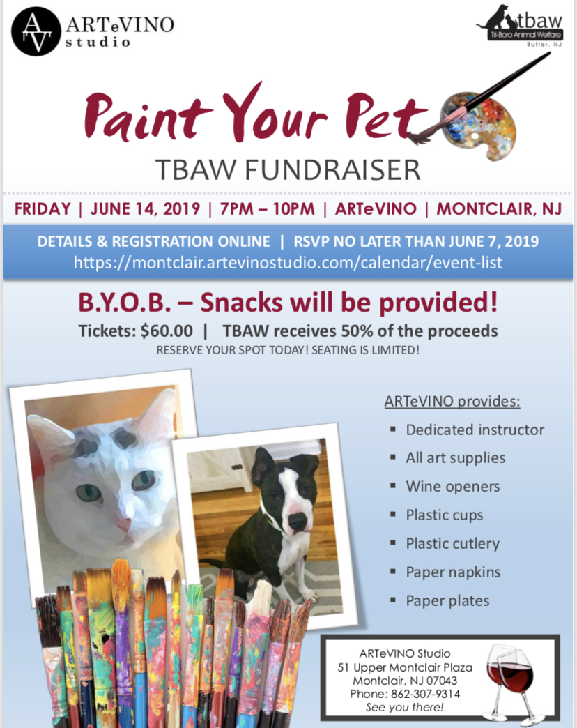 Artevino Hoboken Parking Paint Your Pet At Artevino Montclair Nj