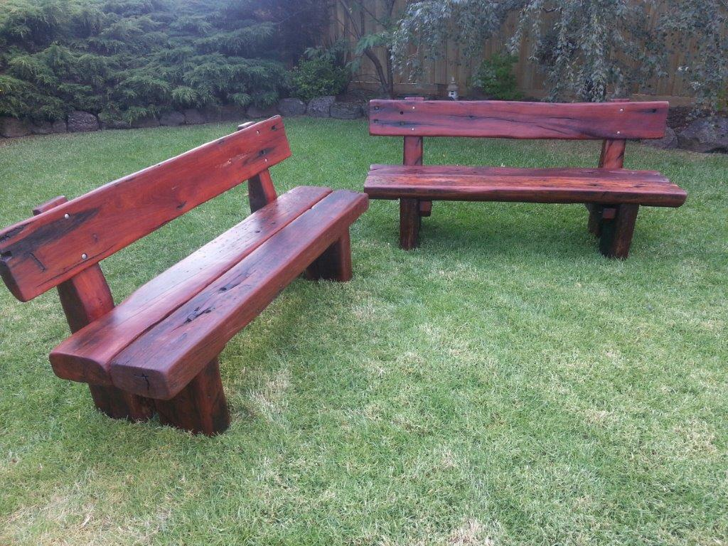Garden Bench Australia Custom Red Gum Bench Seats With Backrests One Red Deer Outdoor