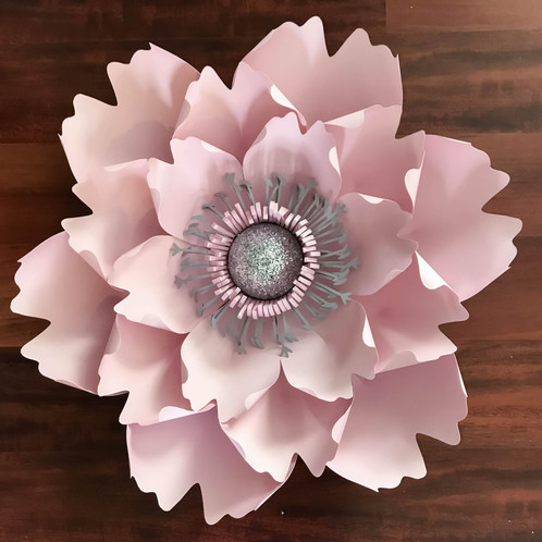 PDF Petal # 13 Paper Flower Template with Base - Trace and Cut File - flower template