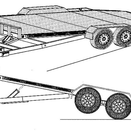 wiring together with tandem axle landscape trailer on car