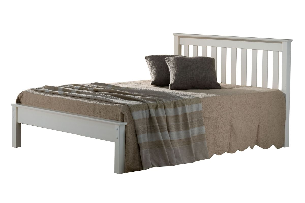 Shaker Style Double Bed Shaker Style Solid Pine Wood Bed Double 4ft6 Slatted Head
