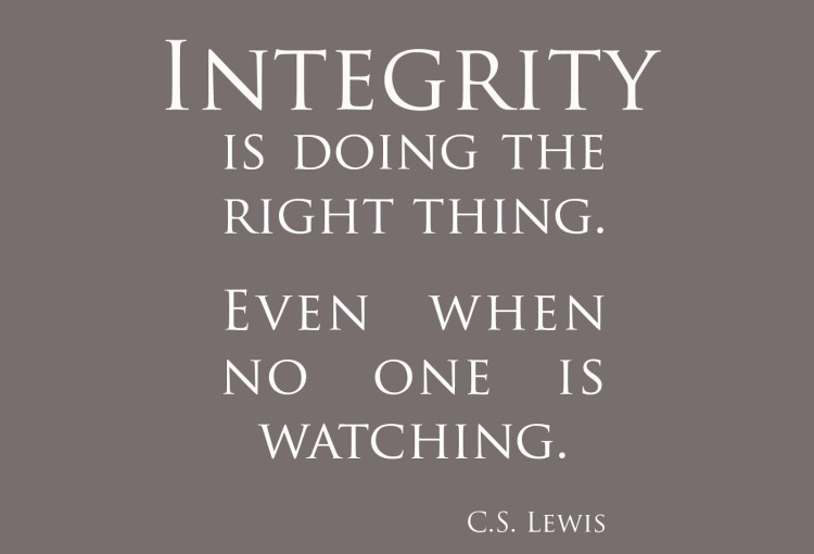 Personal Integrity Bear Valley Center For Spiritual Enrichment - personal integrity essay