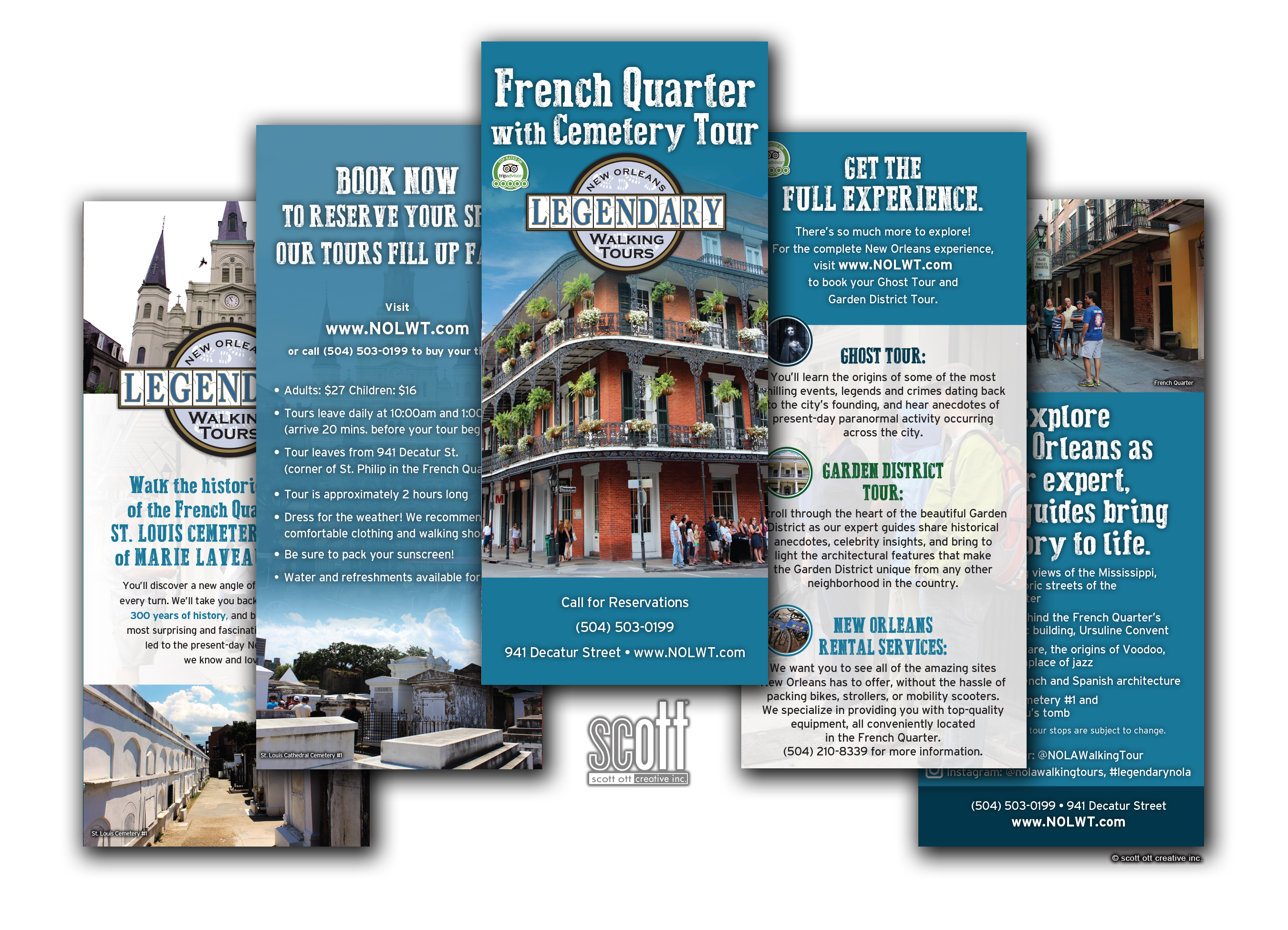 Creation Site Internet Orleans Legendary Walking Tours Scott Ott Creative Inc