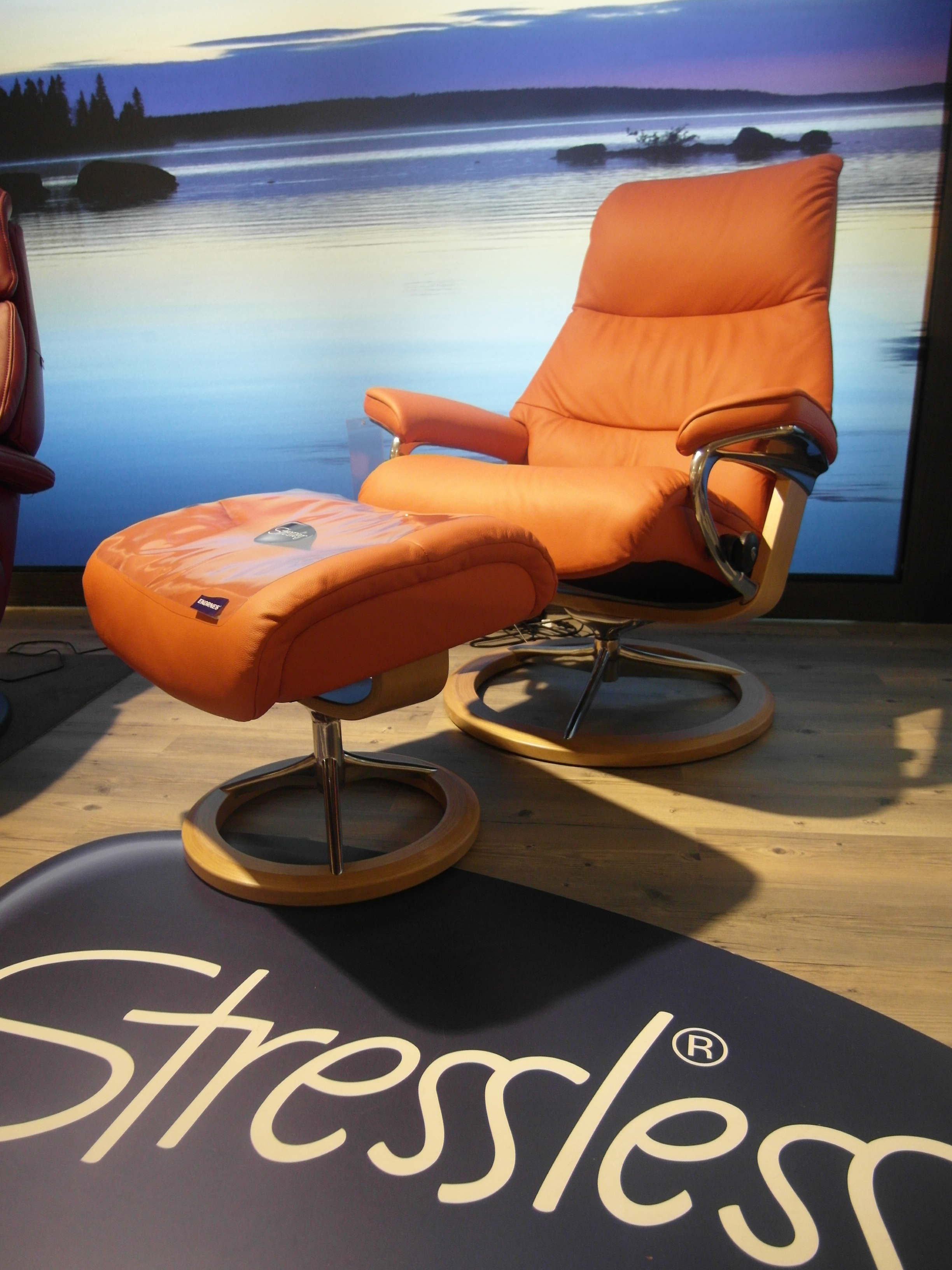 Stressless Ekornes Sessel Ekornes Sessel Inkl Hocker Stressless View M Signature Orange