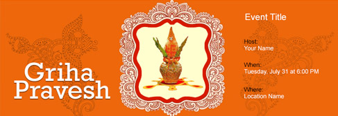 house opening ceremony invitation cards india