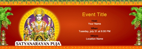 Free Satyanarayan Puja Invitation With Indias 1 Online Tool