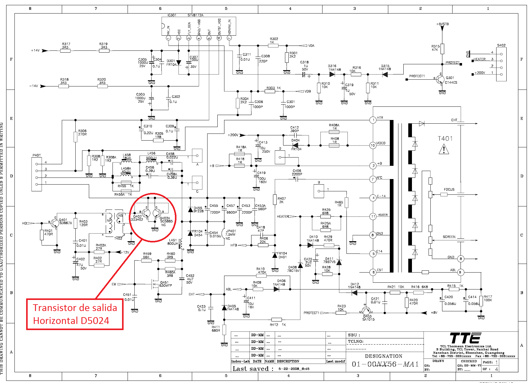 telefunken tkp2147stx diagrama