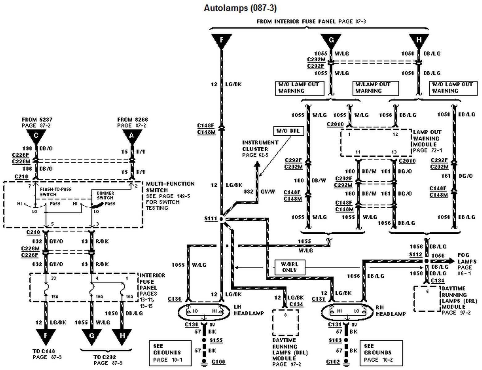 ford explorer Diagrama del motor alternator