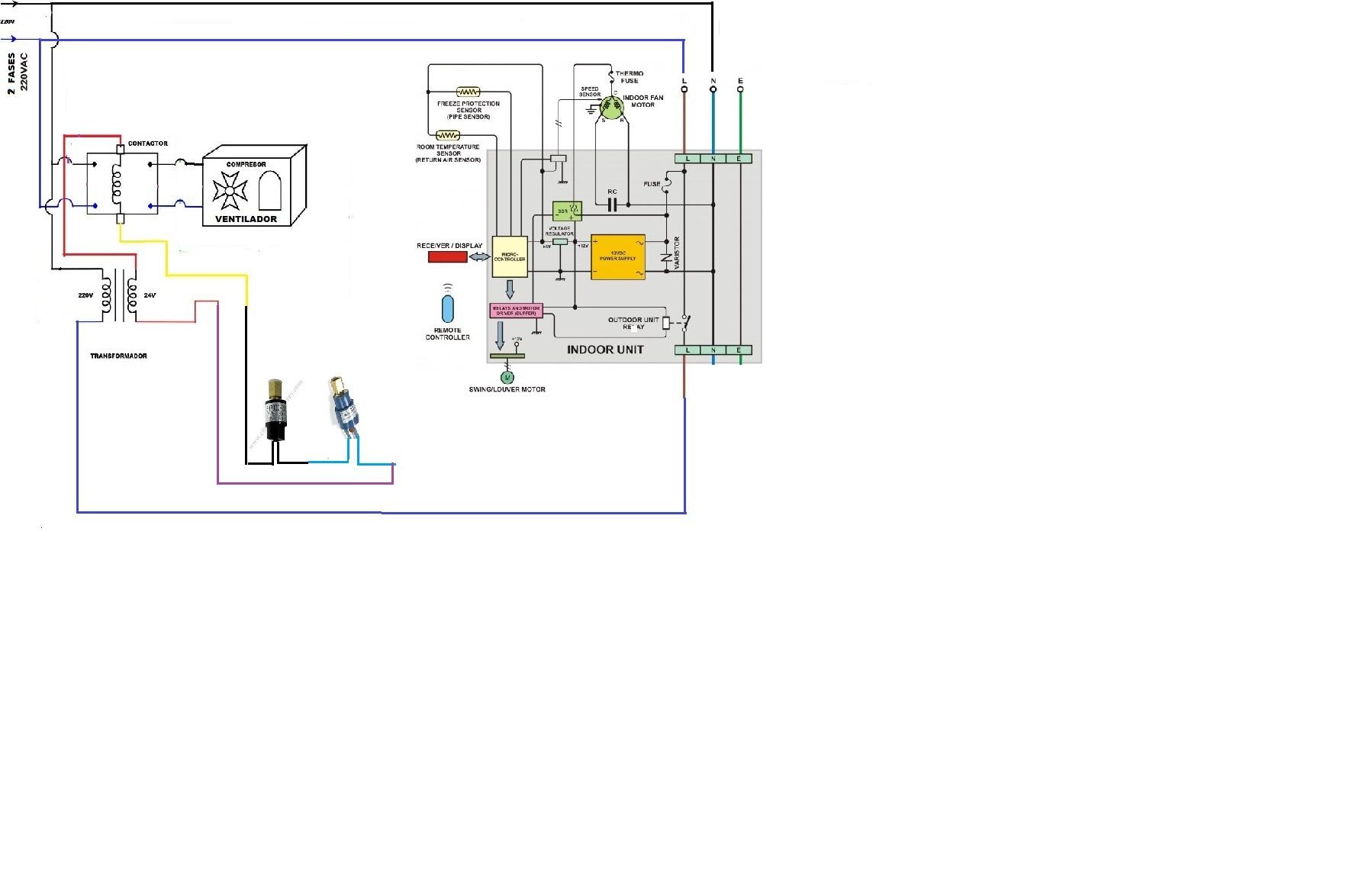 mini diagrama de cableado de la bomba