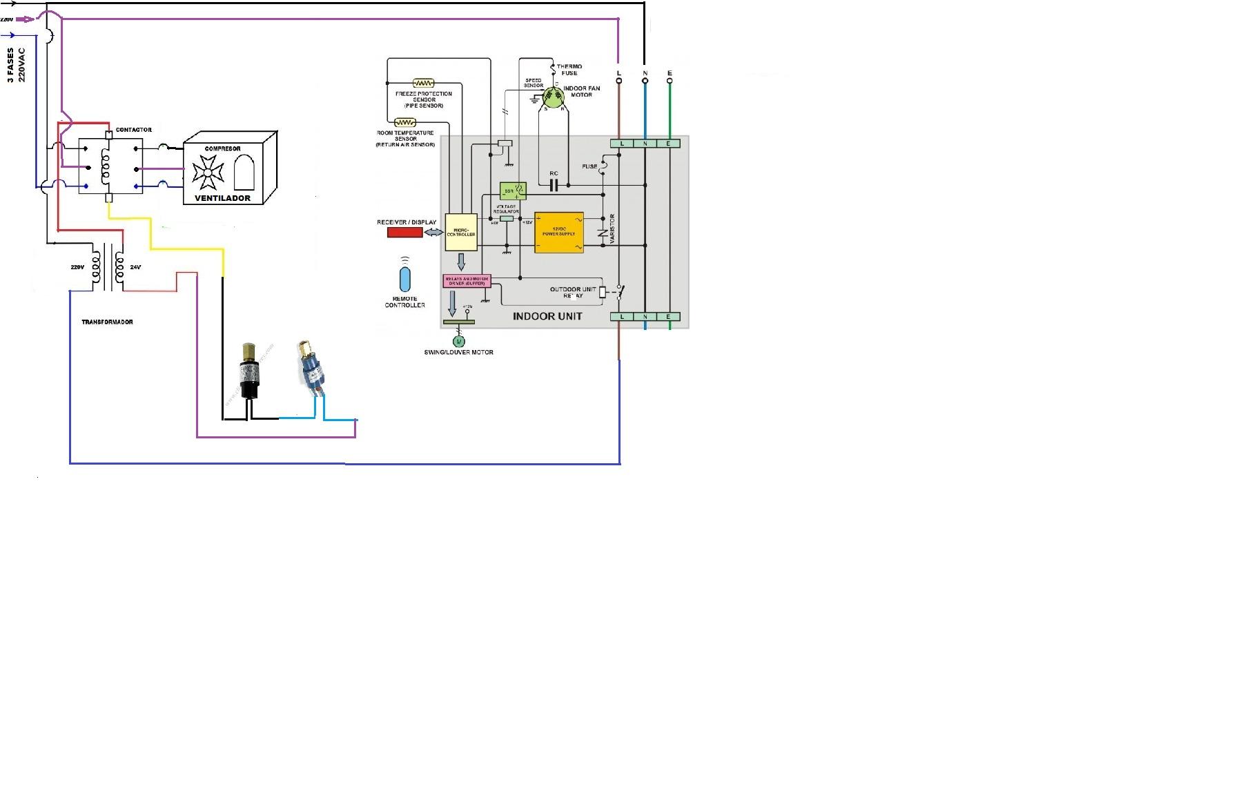 carrier contactor diagrama de cableado
